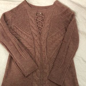 Maurices Cable Knit Light Weight Tunic Sweater